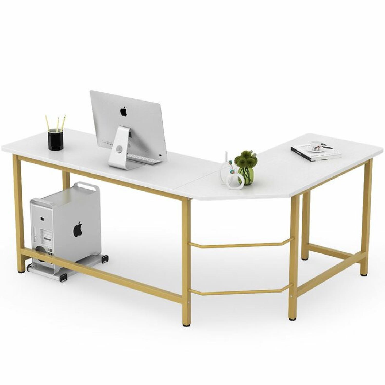 White & Gold Desk - image-5