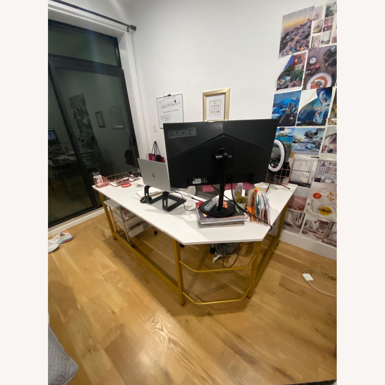 White & Gold Desk - image-1