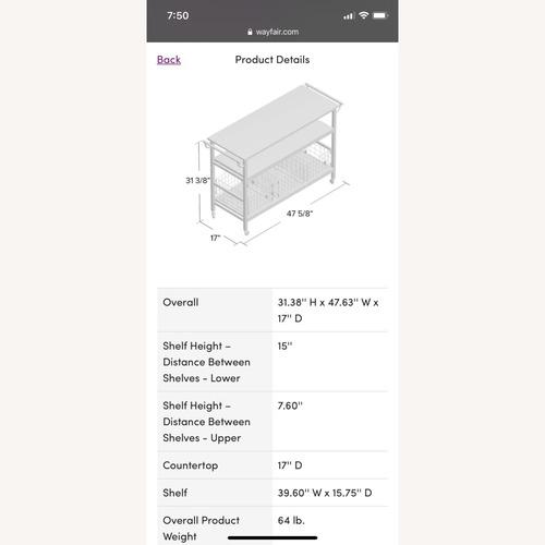 Used Wayfair Kitchen/Bar Cart for sale on AptDeco