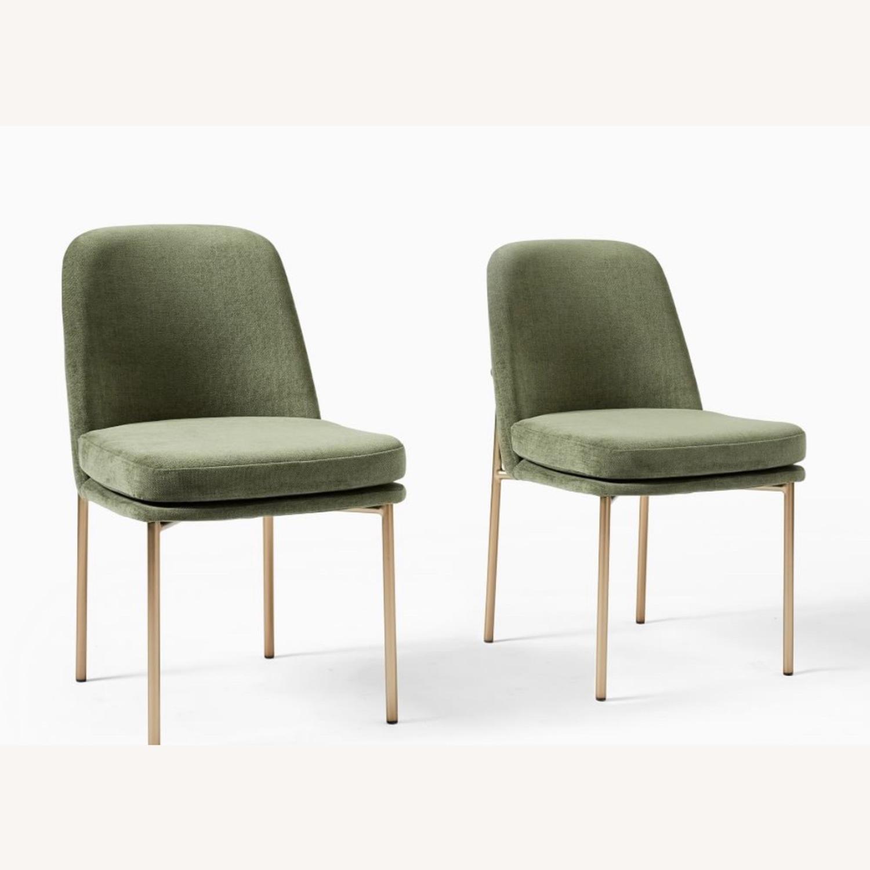 West Elm Jack Dining Chair Set of 2 Spruce - image-1