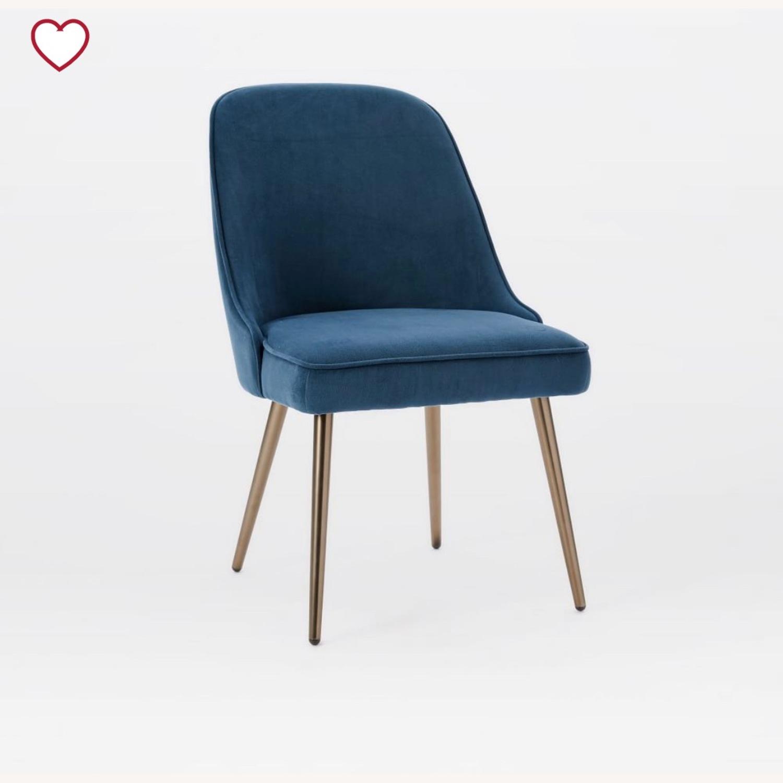 West Elm Mid Century Dining Chair Lagoon - image-1