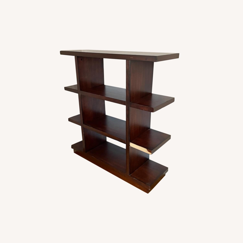 Dark Wood Bookcase/Shelving - image-0