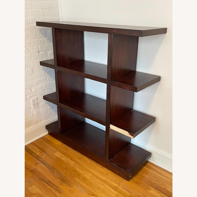 Dark Wood Bookcase/Shelving - image-1