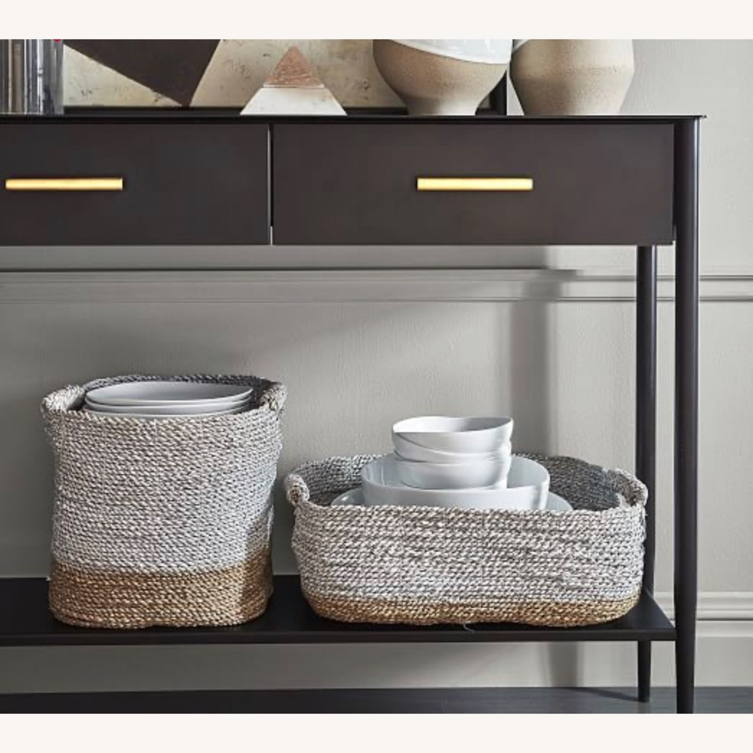 West Elm Metalwork Console-Hot Rolled Steel - image-2
