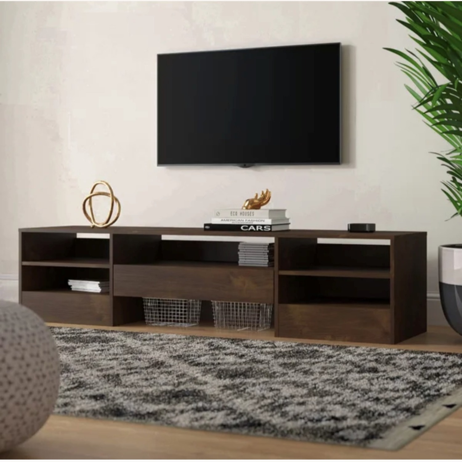 Wood Media Console TV Stand - image-2
