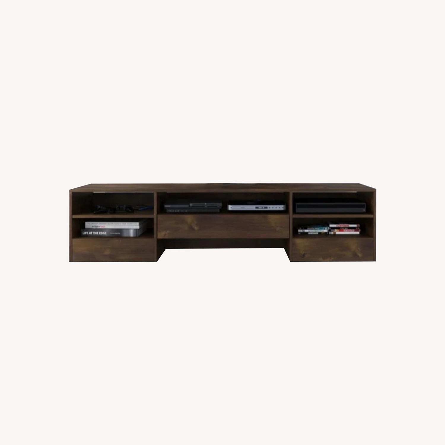 Wood Media Console TV Stand - image-0