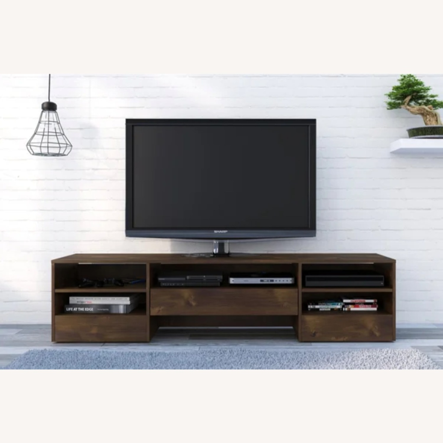 Wood Media Console TV Stand - image-1