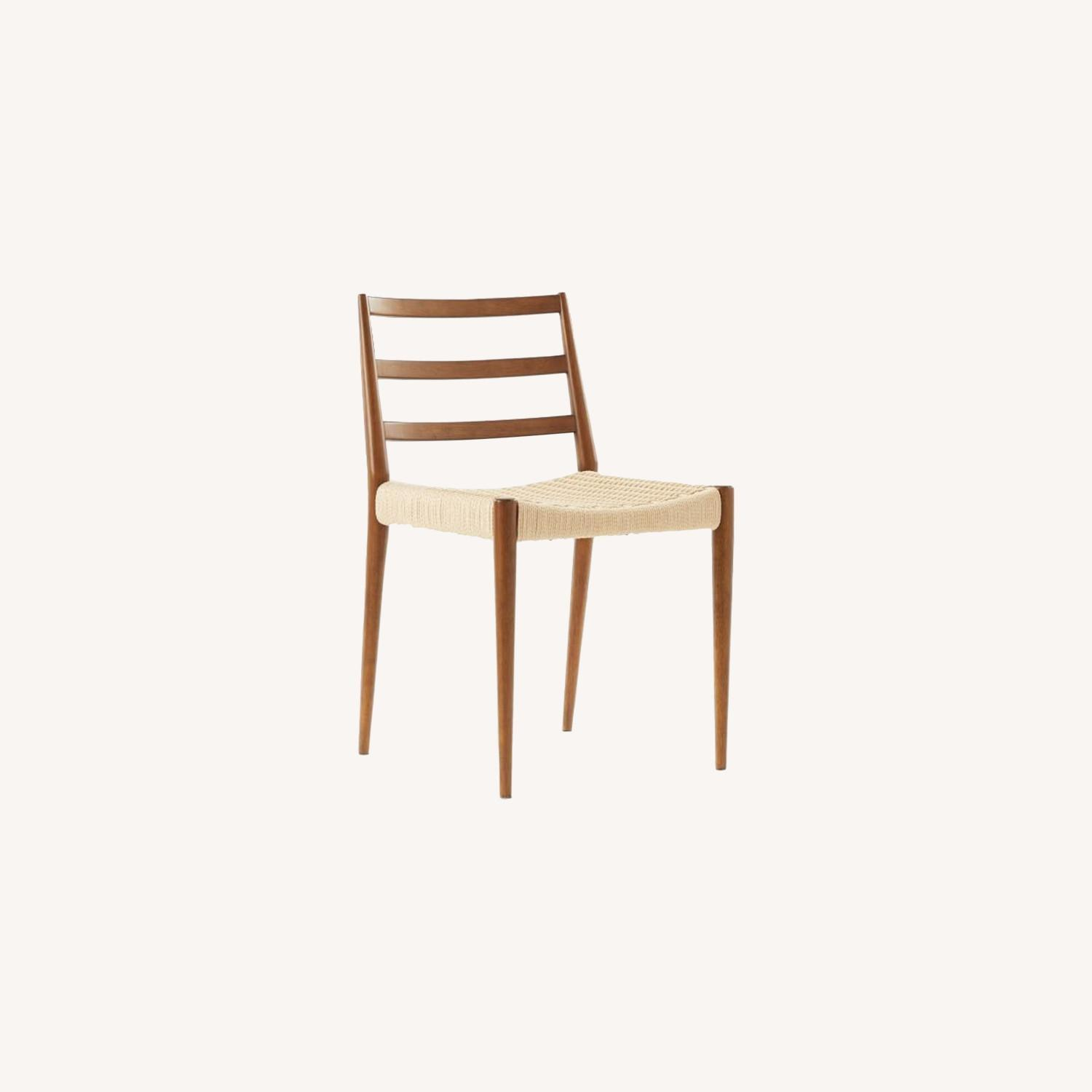 West Elm Holland Dining Chair Walnut/Natural - image-0