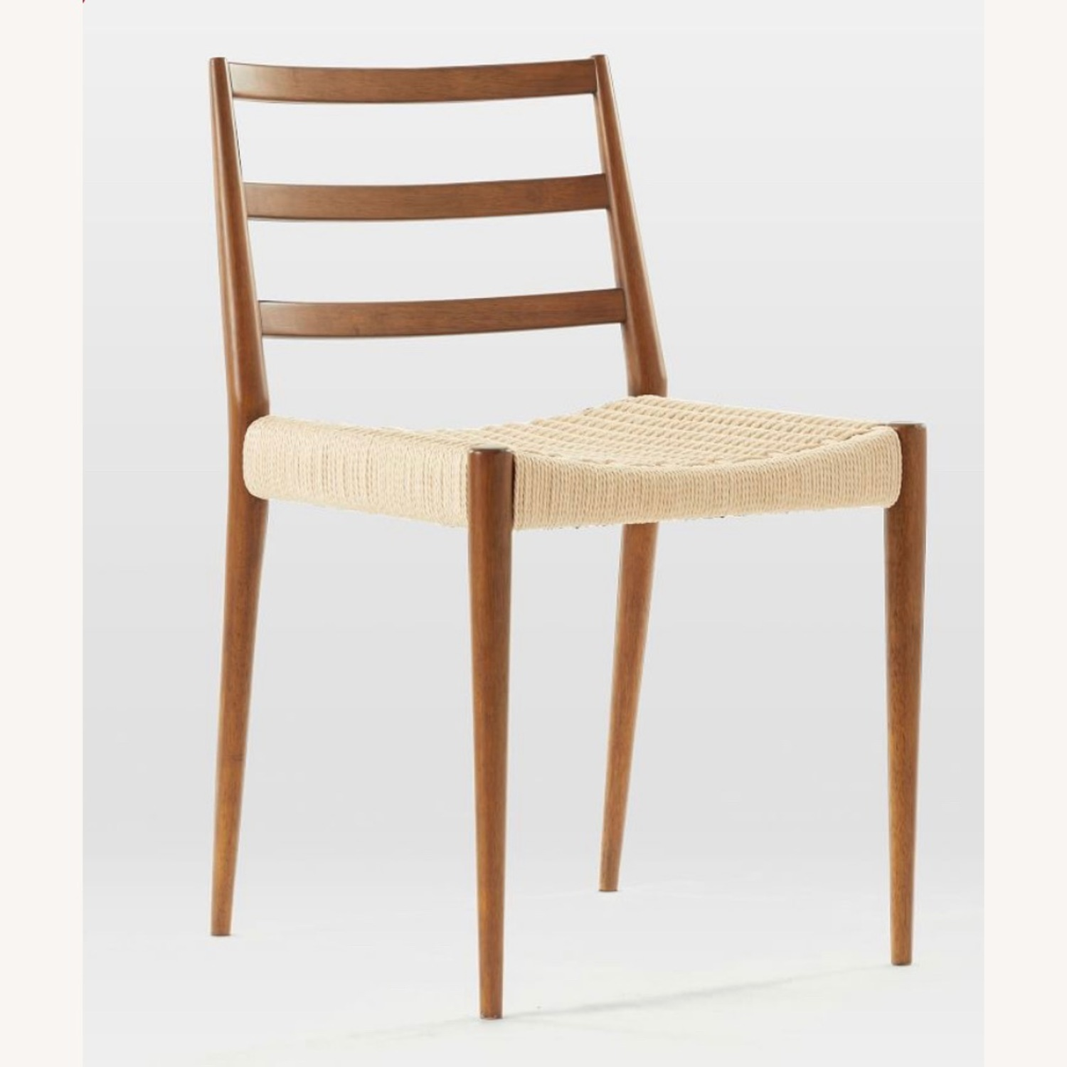 West Elm Holland Dining Chair Walnut/Natural - image-1