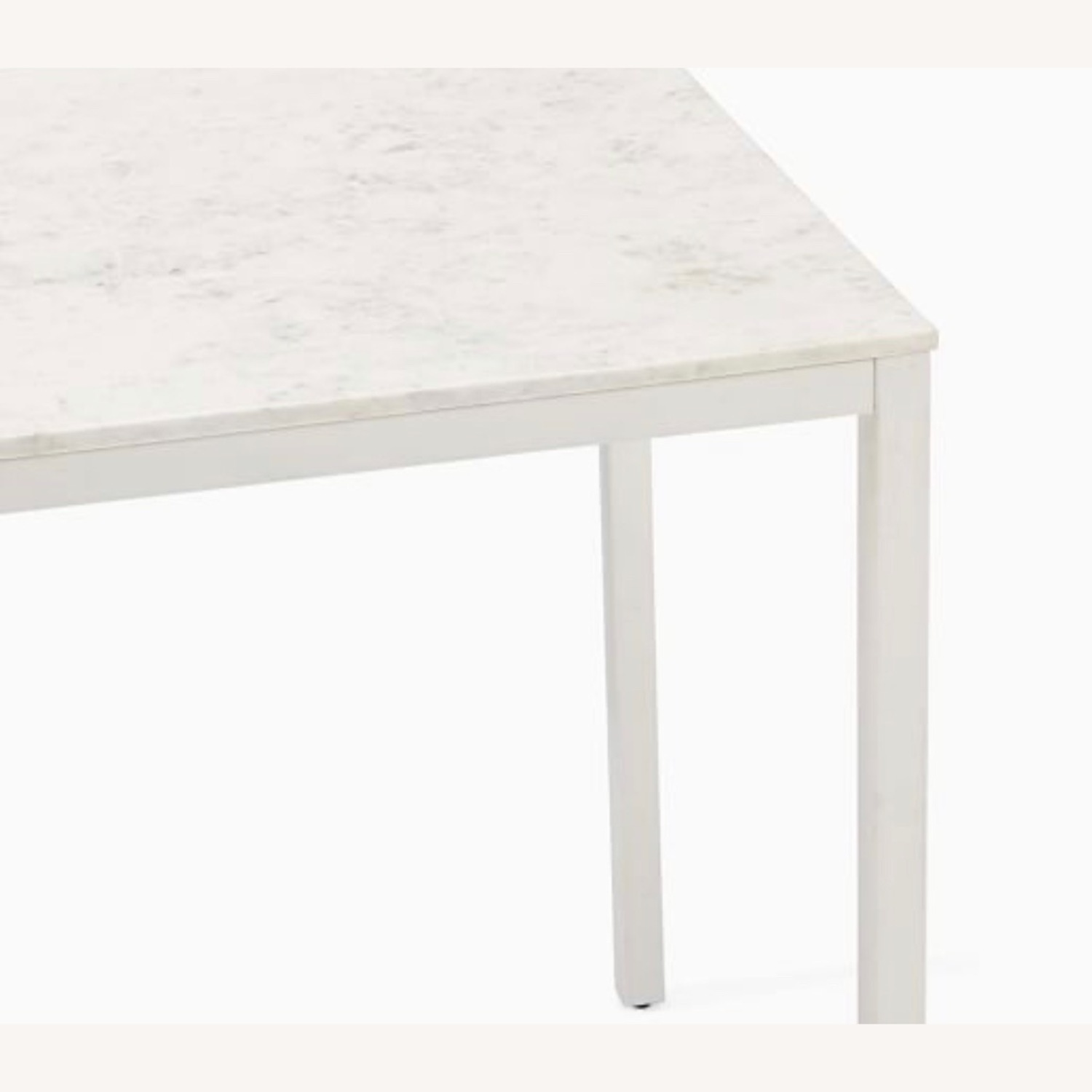 West Elm Frame Counter Table White Marble - image-2
