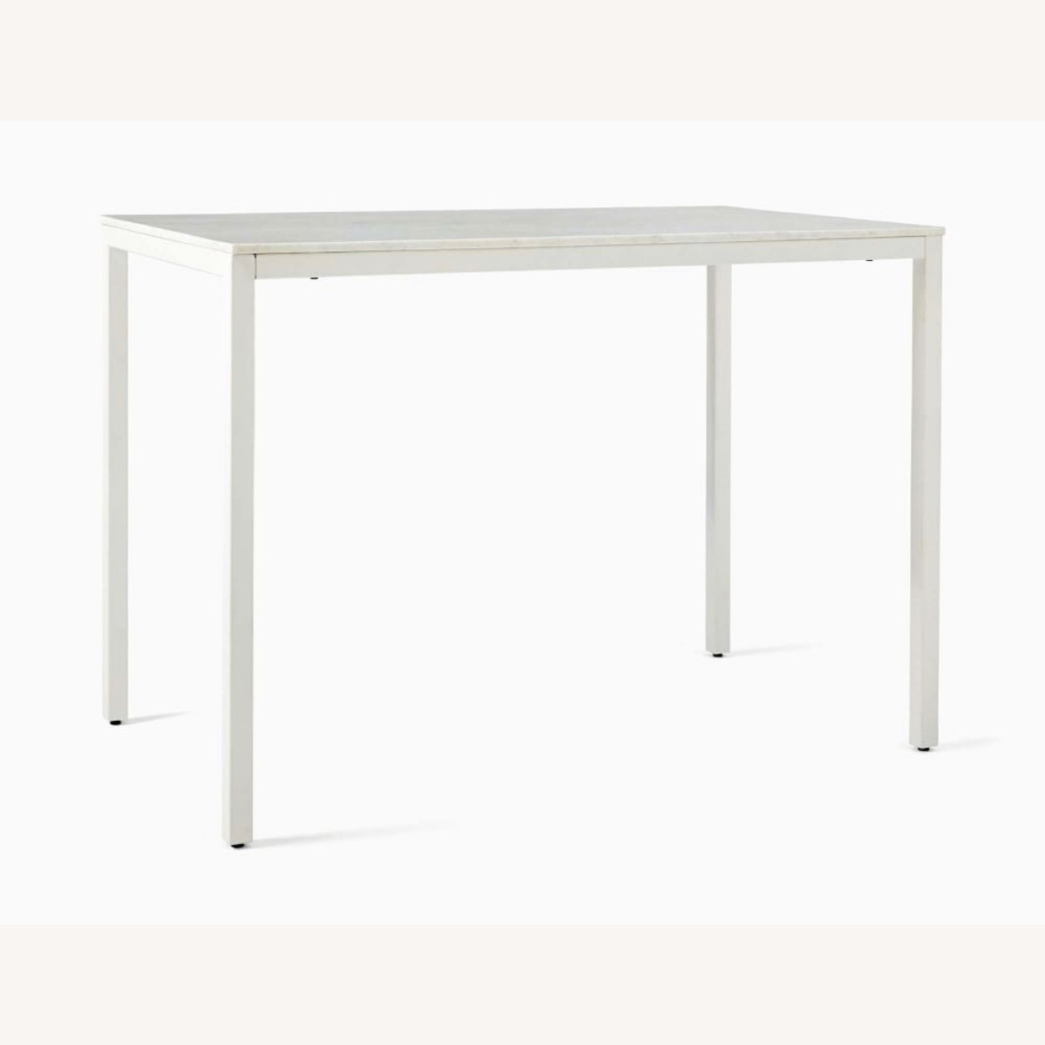 West Elm Frame Counter Table White Marble - image-0