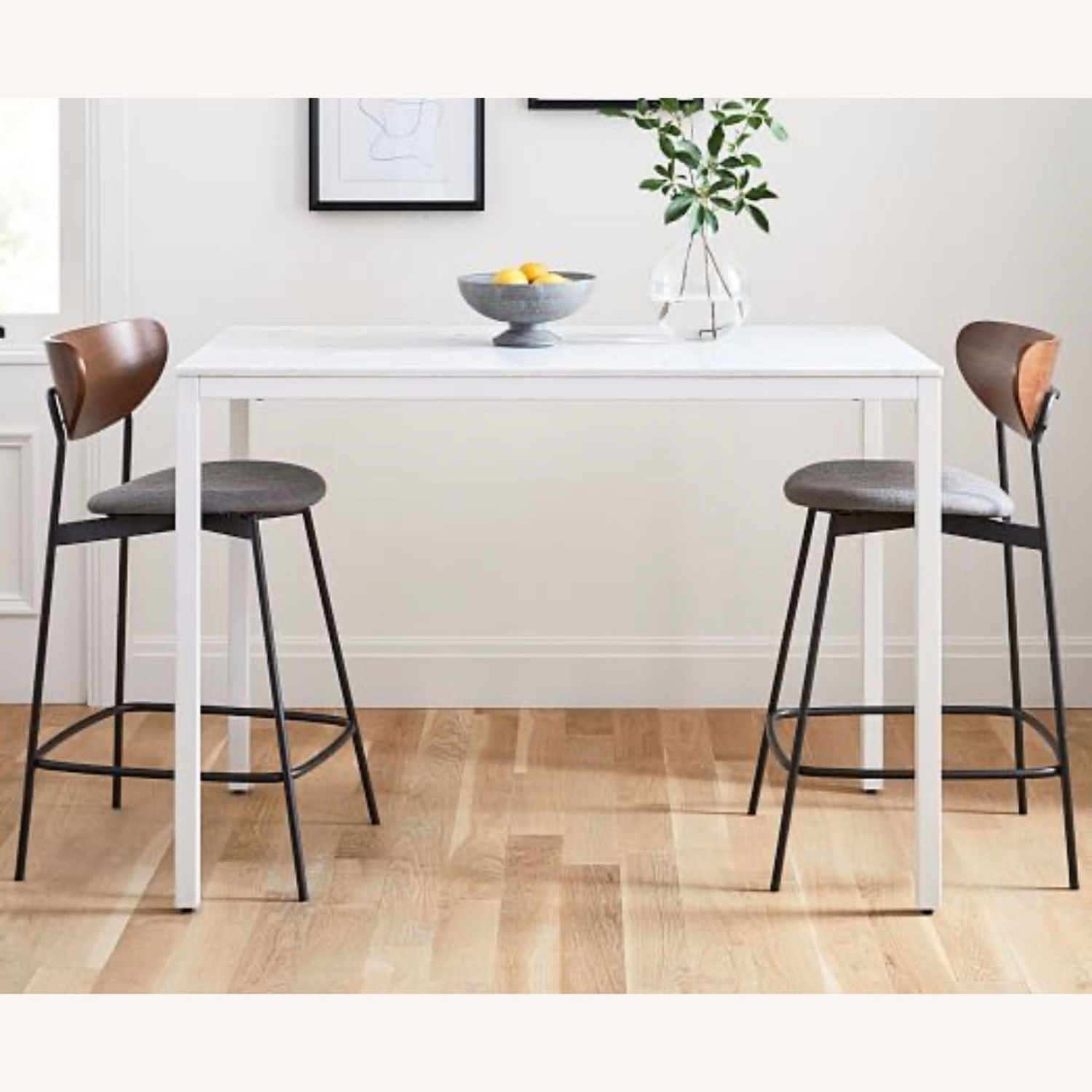West Elm Frame Counter Table White Marble - image-3