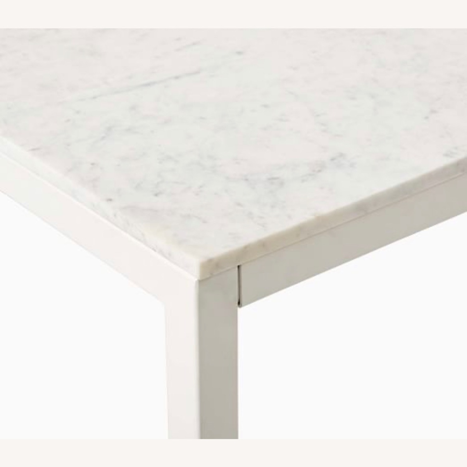 West Elm Frame Counter Table White Marble - image-1