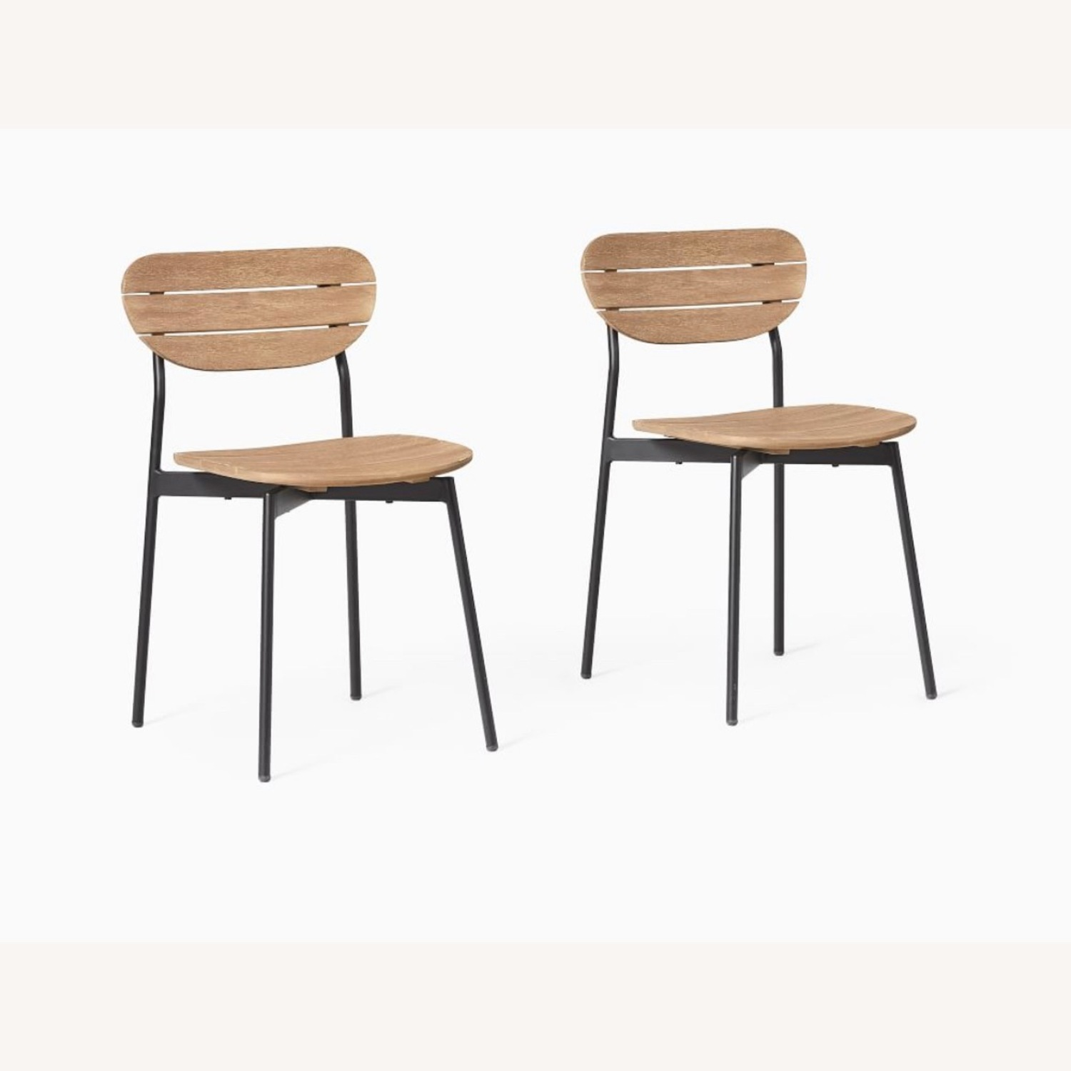 West Elm Frame Outdoor Set of 2 Dining Chairs - image-1