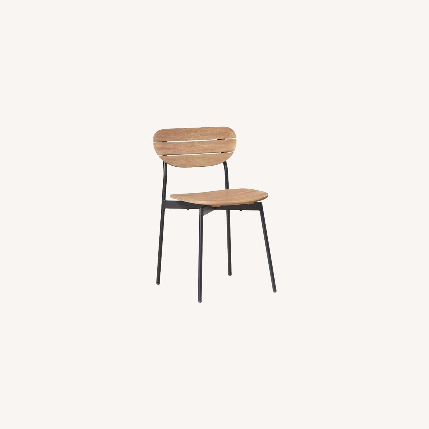 West Elm Frame Outdoor Set of 2 Dining Chairs - image-0