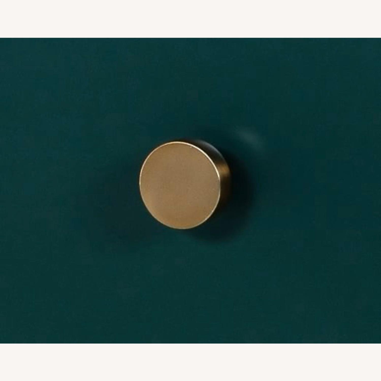 West Elm Juniper Green & Brass 5-Drawer Dresser - image-3