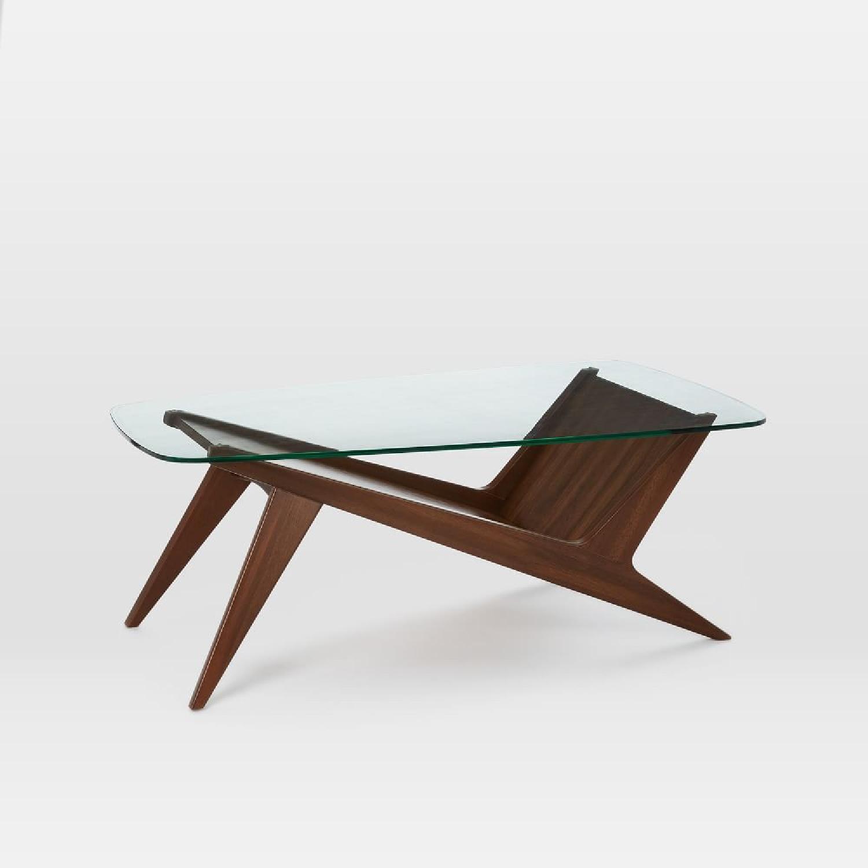West Elm Marcio Display Coffee Table, Dark Walnut - image-12