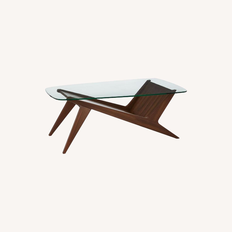 West Elm Marcio Display Coffee Table, Dark Walnut - image-0
