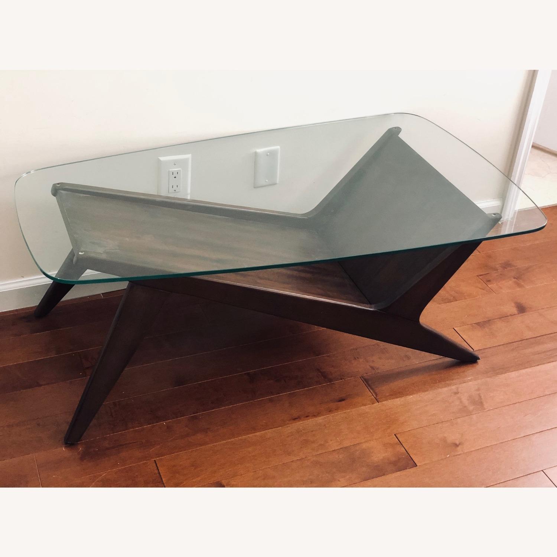 West Elm Marcio Display Coffee Table, Dark Walnut - image-11
