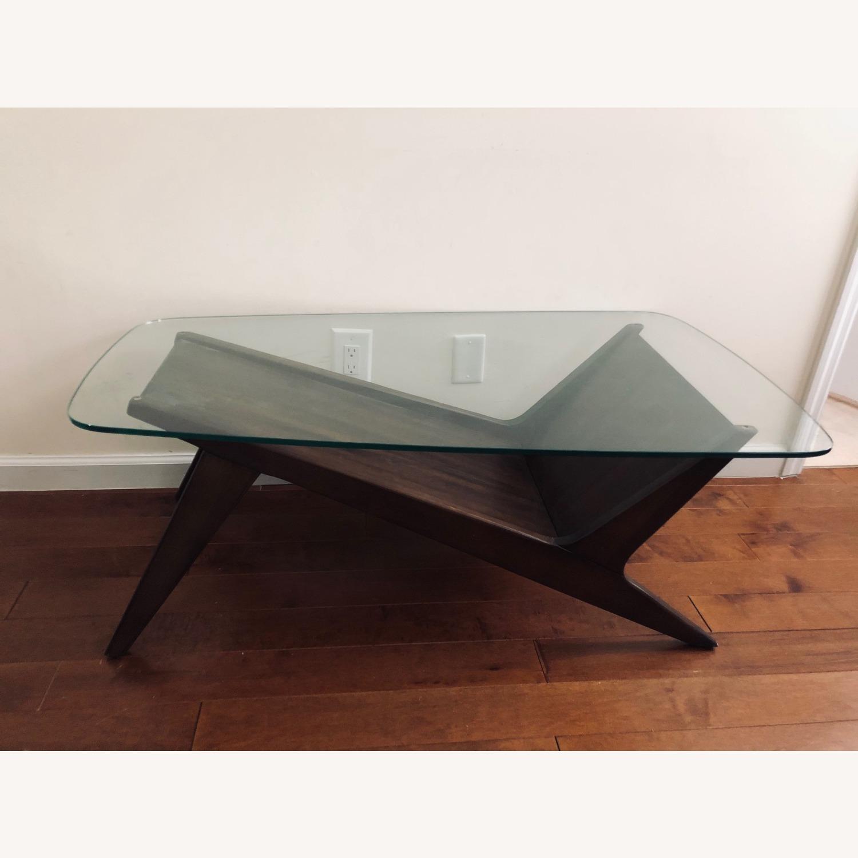West Elm Marcio Display Coffee Table, Dark Walnut - image-10