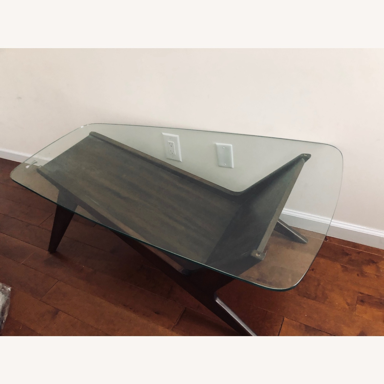 West Elm Marcio Display Coffee Table, Dark Walnut - image-6