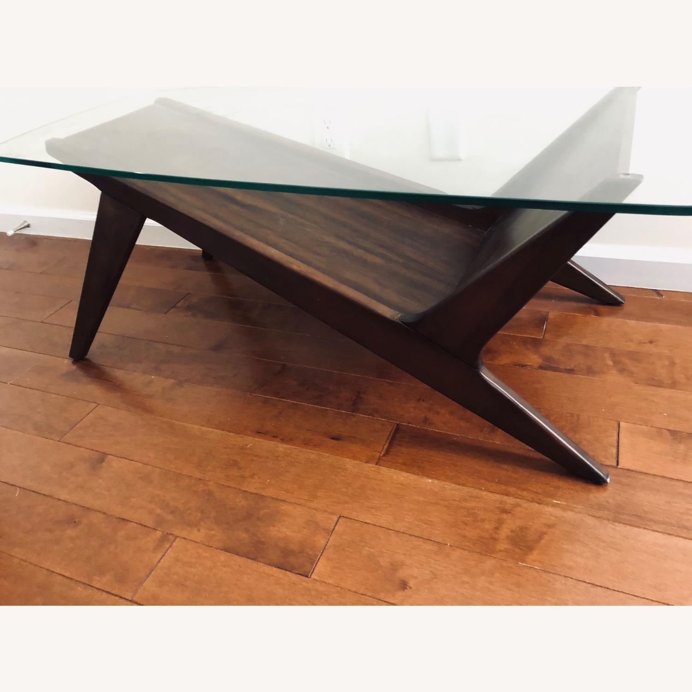 West Elm Marcio Display Coffee Table, Dark Walnut - image-1