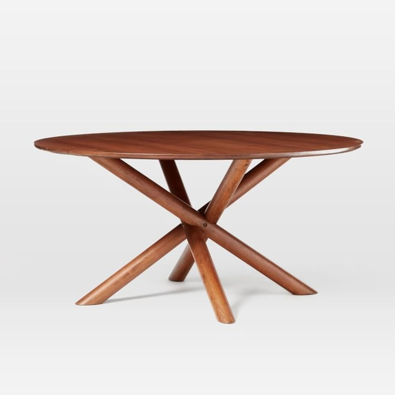 "West Elm Jax 60"" Round Dining Table, Walnut - image-3"