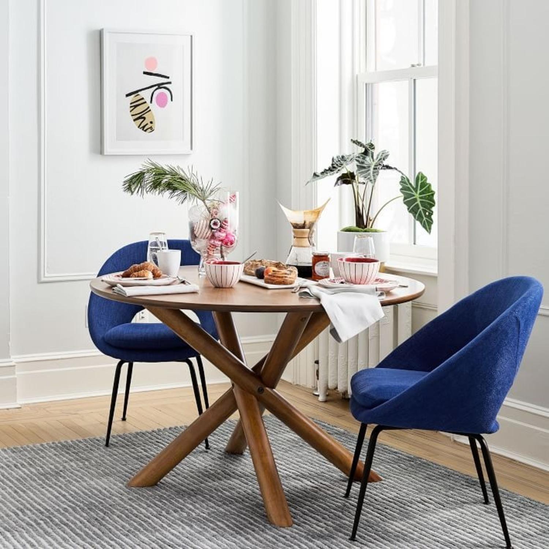 "West Elm Jax 60"" Round Dining Table, Walnut - image-2"