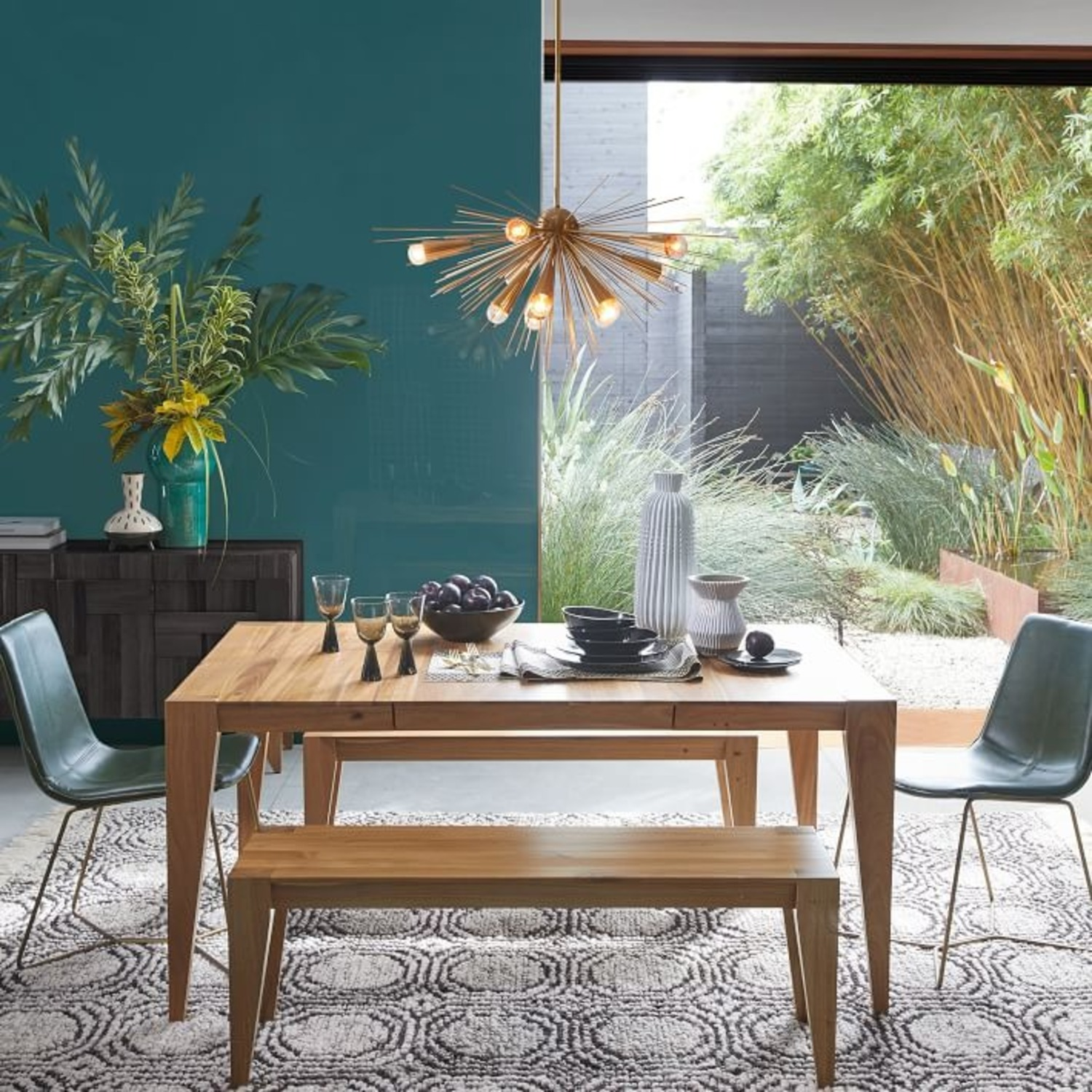 """West Elm Anderson Expandable Dining Table, 42-90"""" - image-1"""