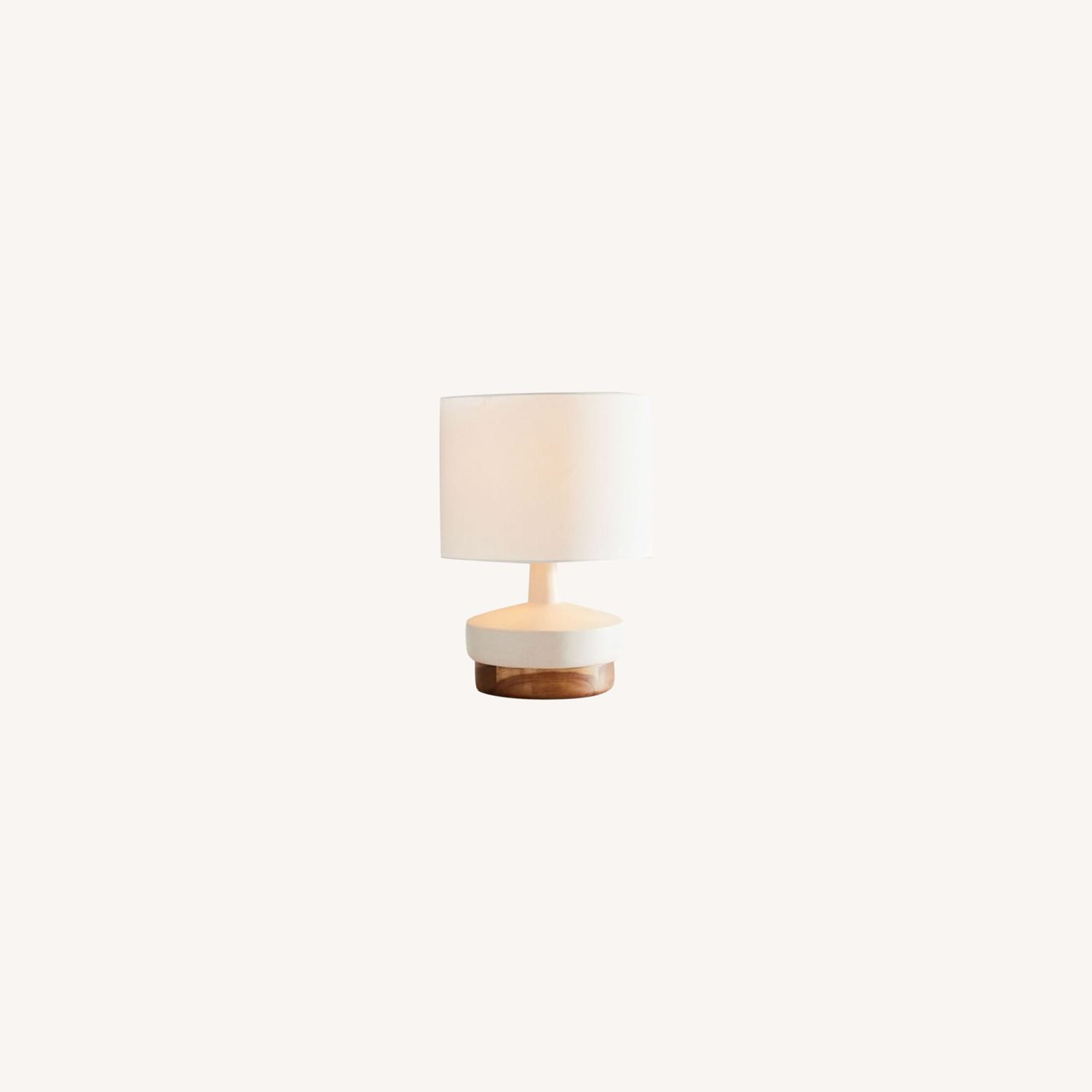 West Elm Wood + Ceramic Table Lamp, Small - image-0