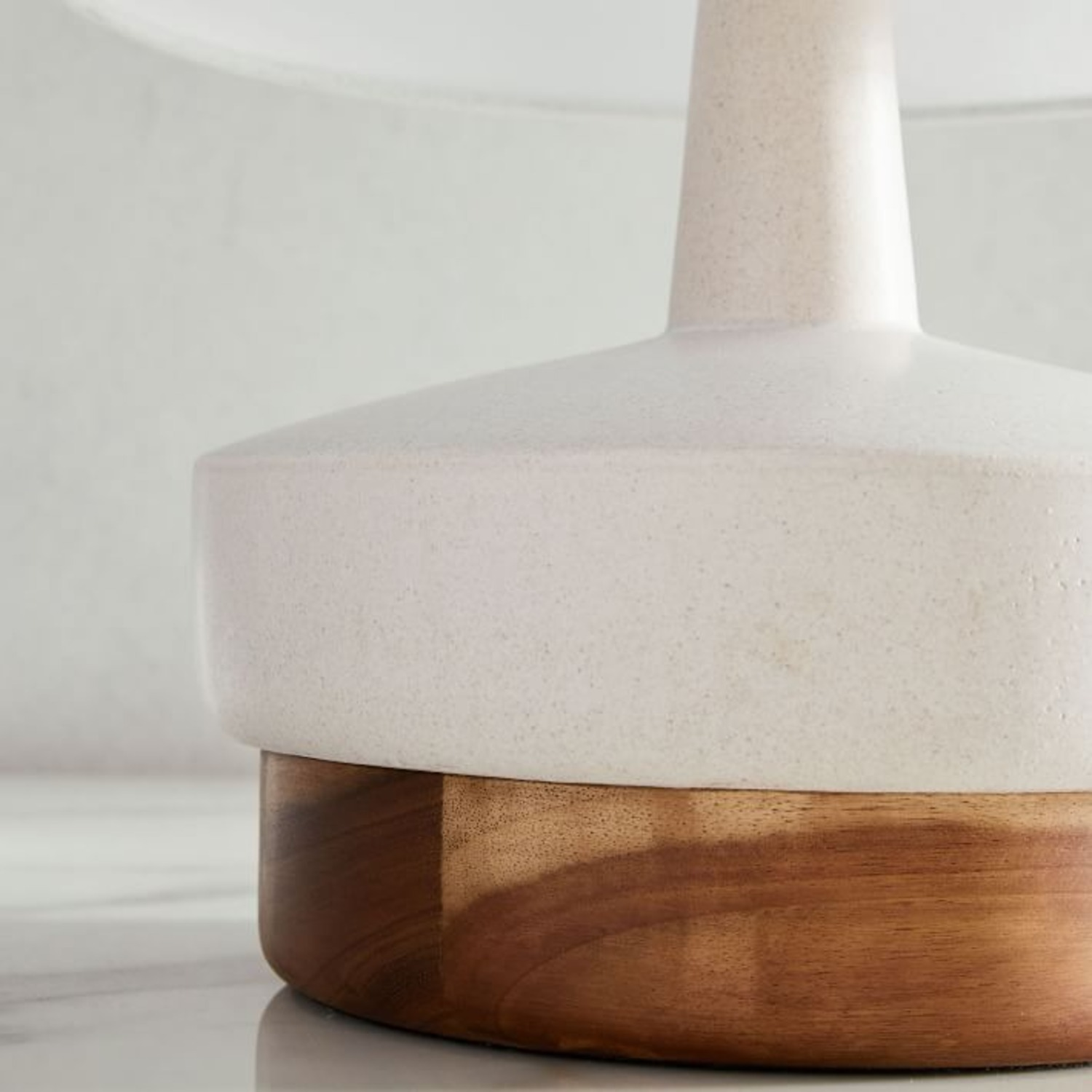 West Elm Wood + Ceramic Table Lamp, Small - image-3