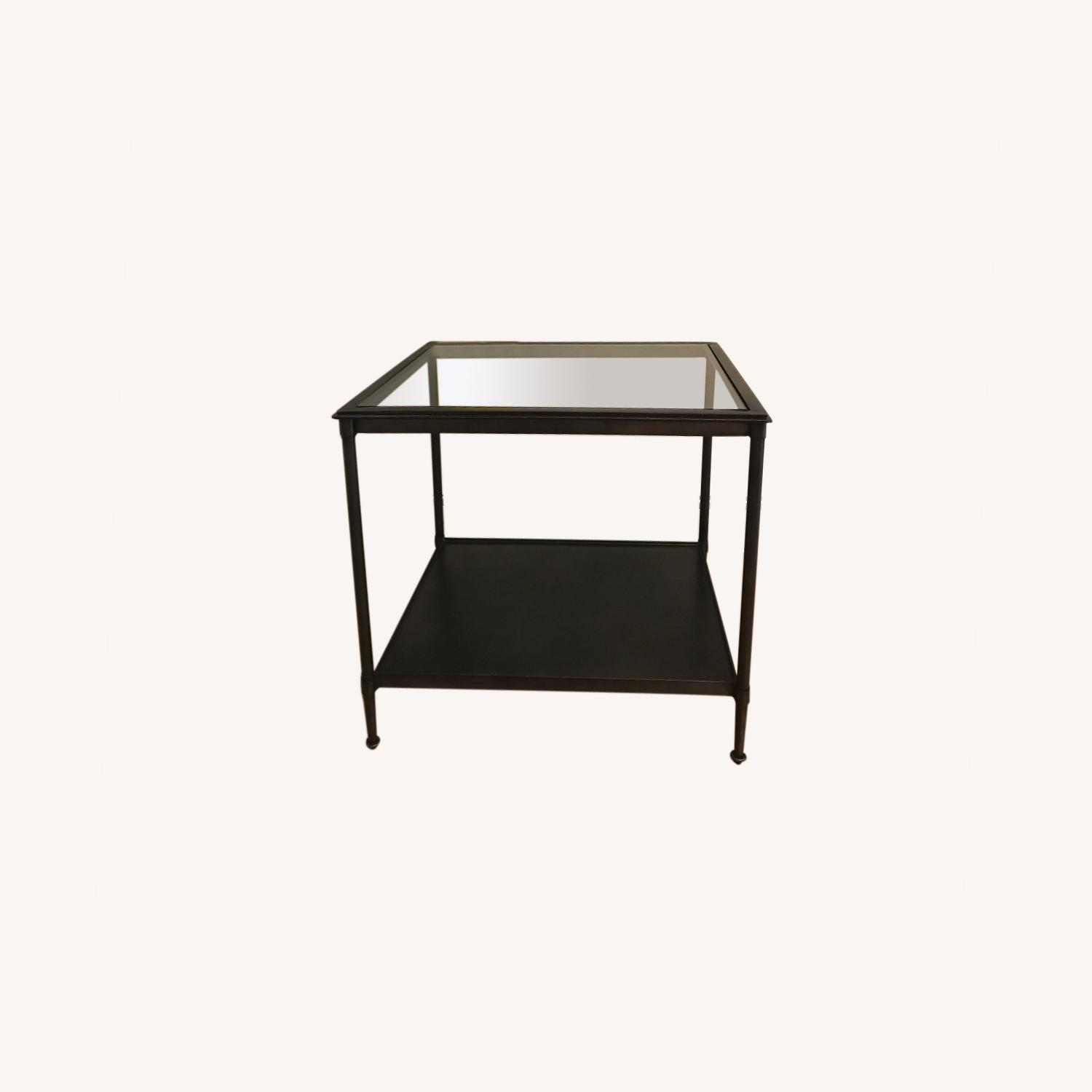West Elm Side Table - Glass top - image-0