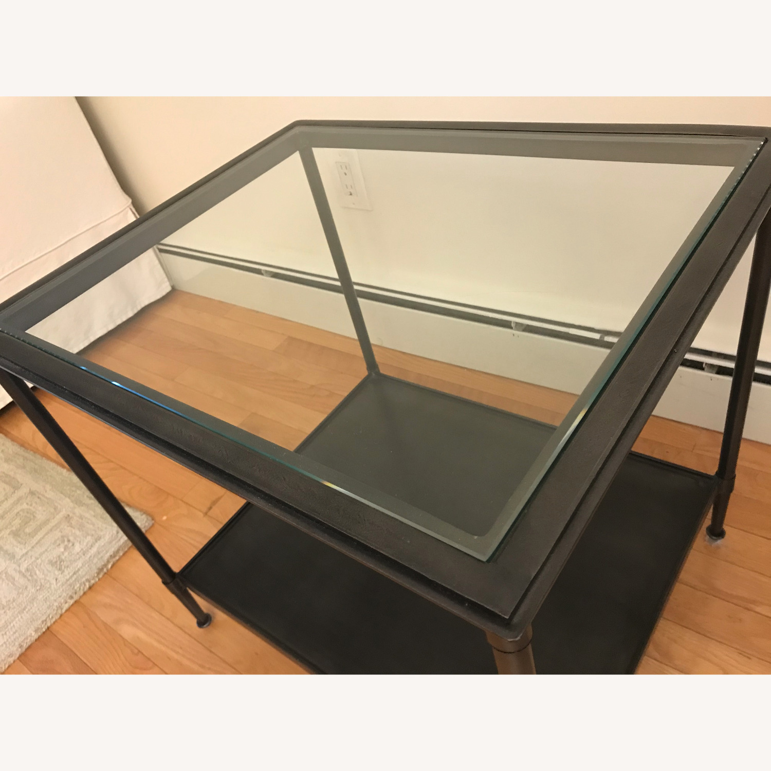 West Elm Side Table - Glass top - image-2