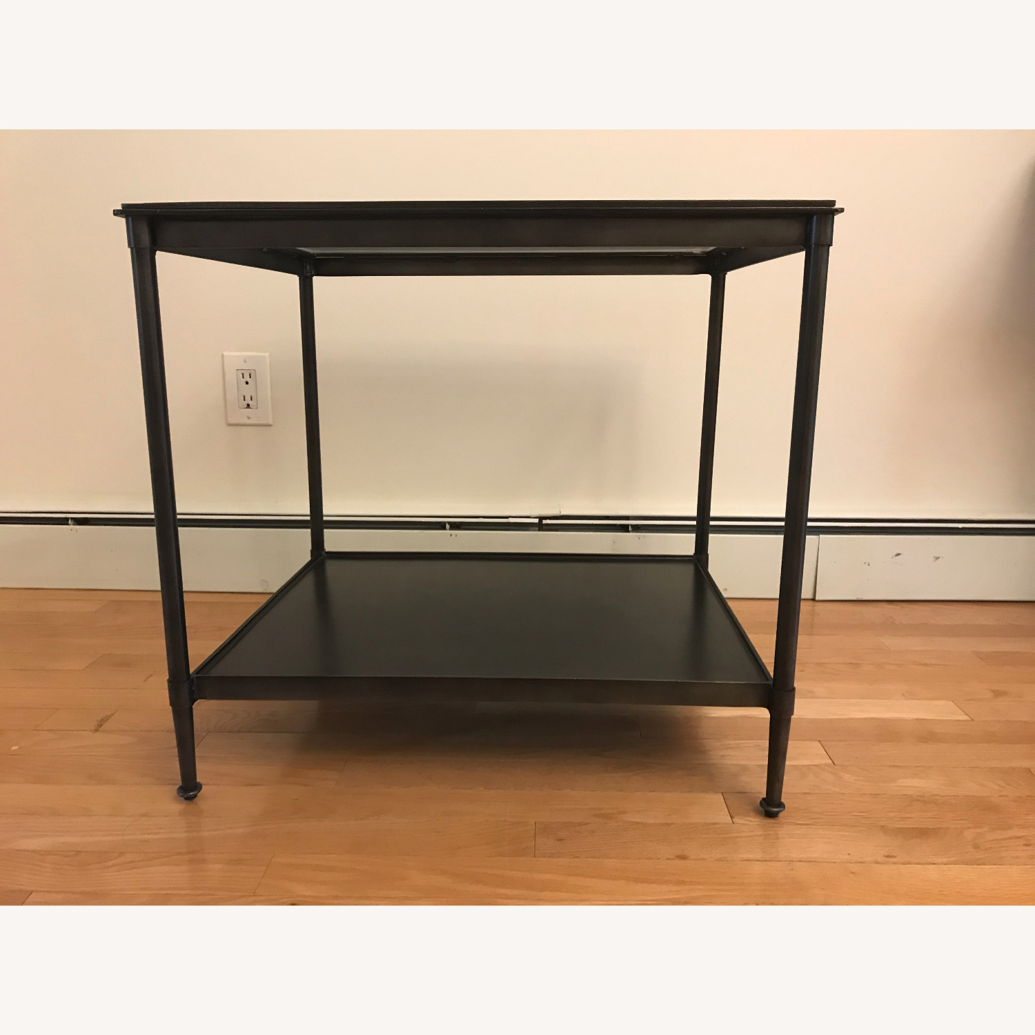 West Elm Side Table - Glass top - image-1