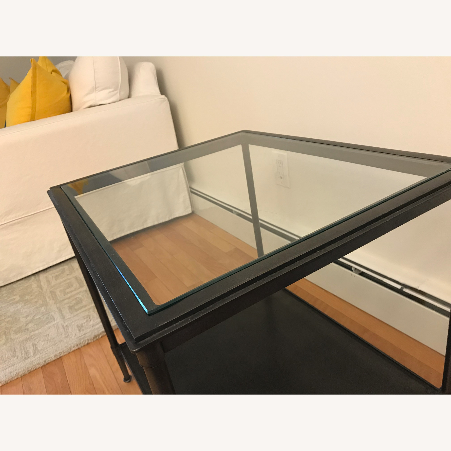 West Elm Side Table - Glass top - image-3