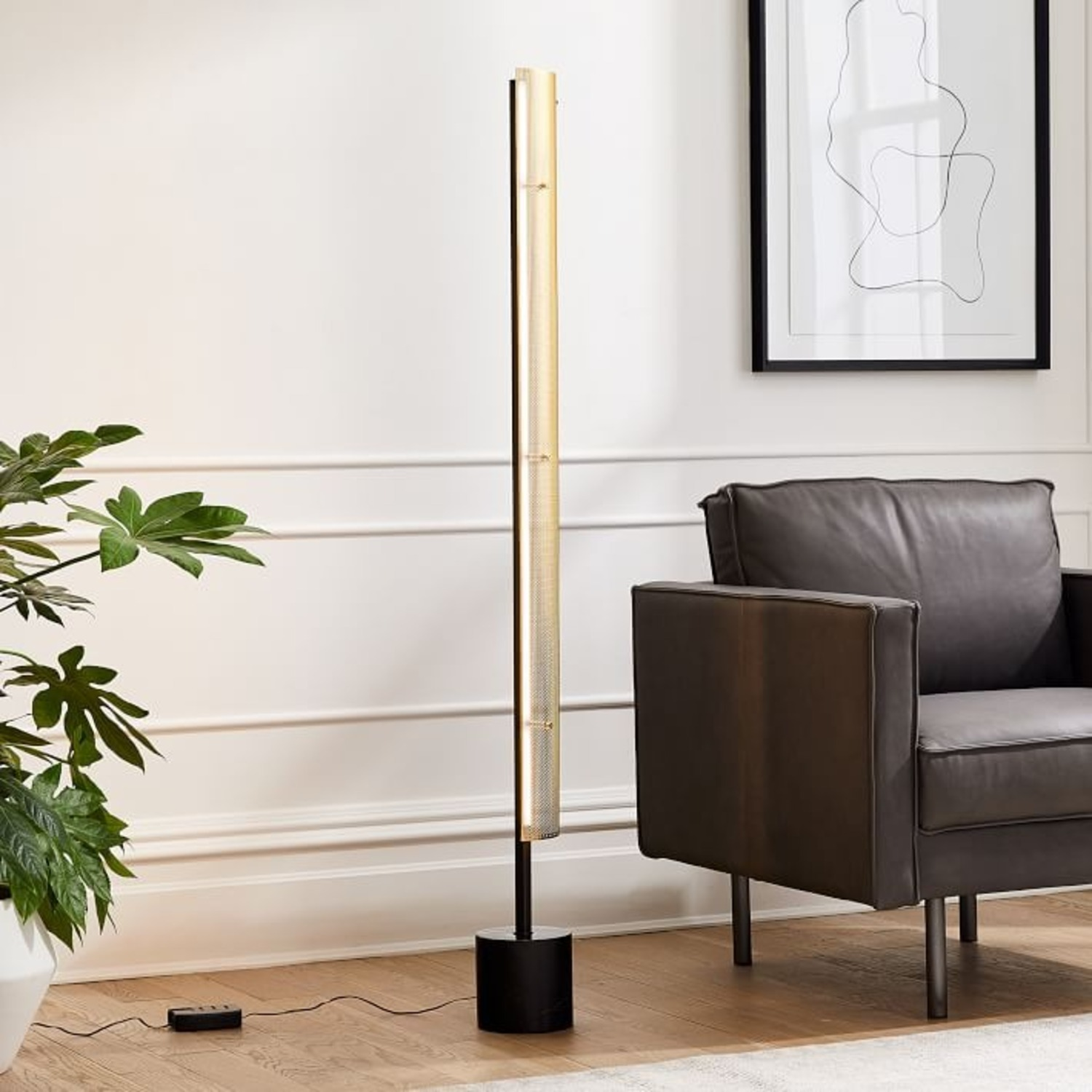 West Elm Led Perforated Floor Lamp - image-1