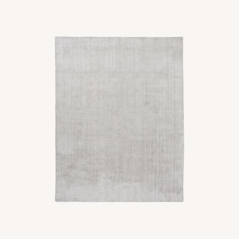 West Elm Handloomed Strie Shine Rug, 6'x9', Gray - image-0