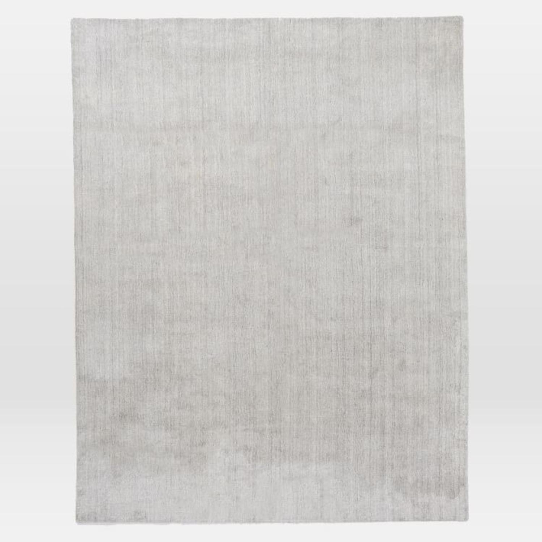 West Elm Handloomed Strie Shine Rug, 6'x9', Gray - image-1