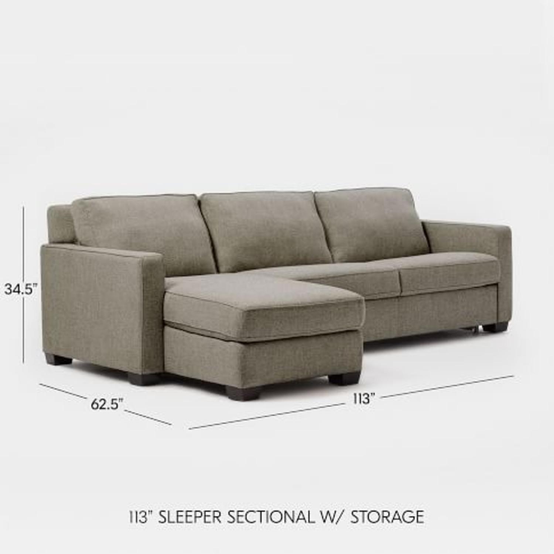 West Elm Full Sleeper Sectional w/ Storage - image-3