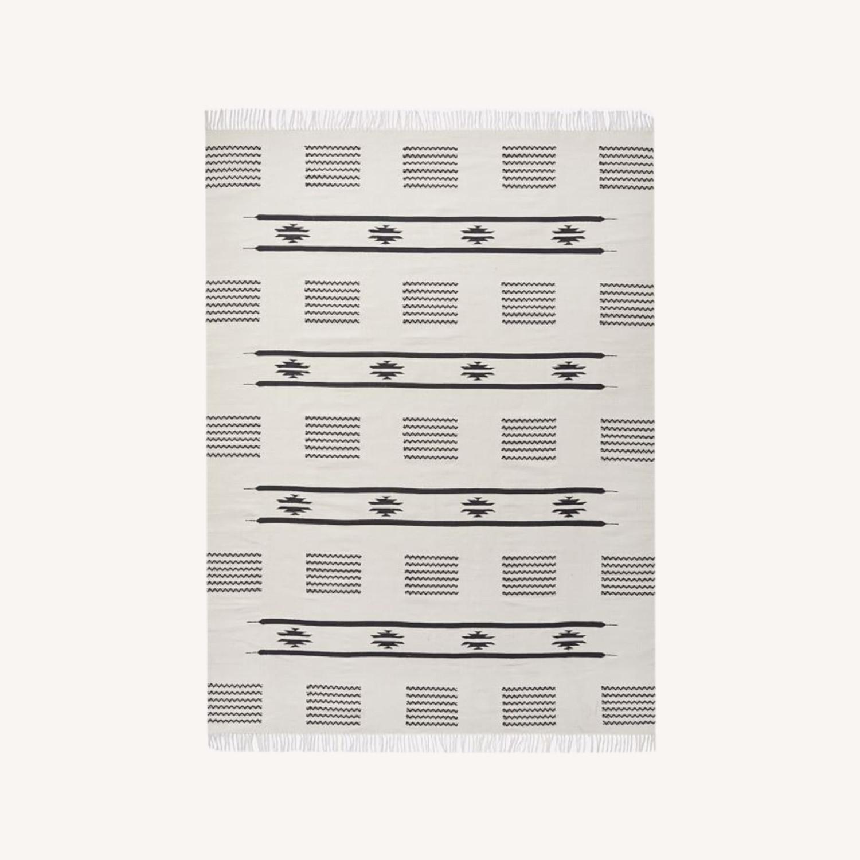 West Elm Pradera Cotton Rug, 8'x10', White - image-0