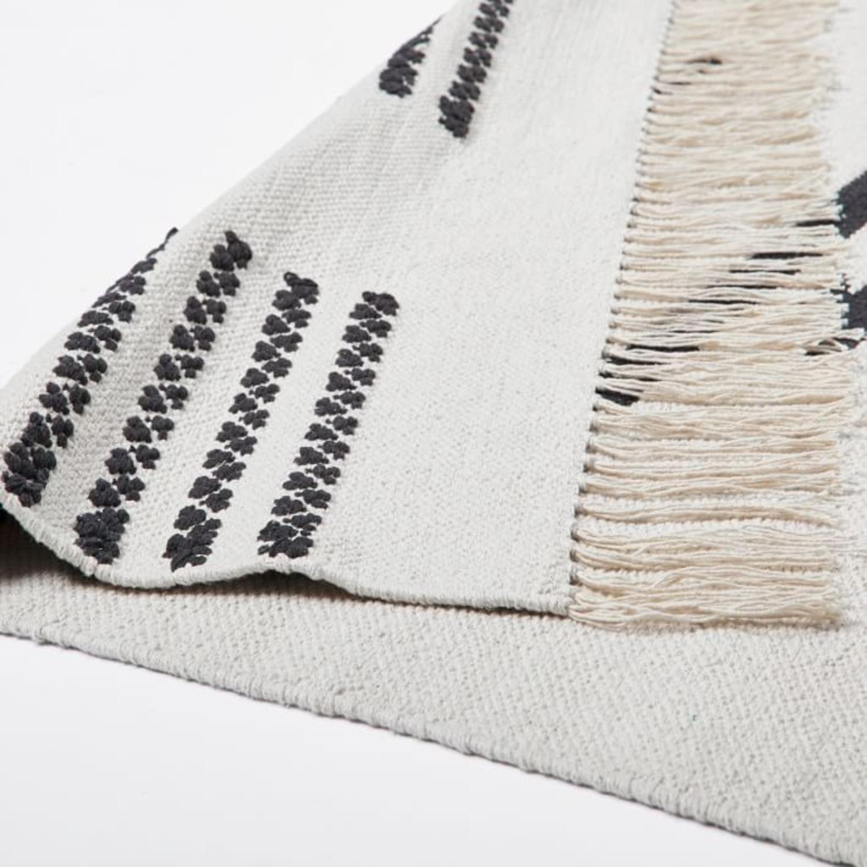 West Elm Pradera Cotton Rug, 8'x10', White - image-1