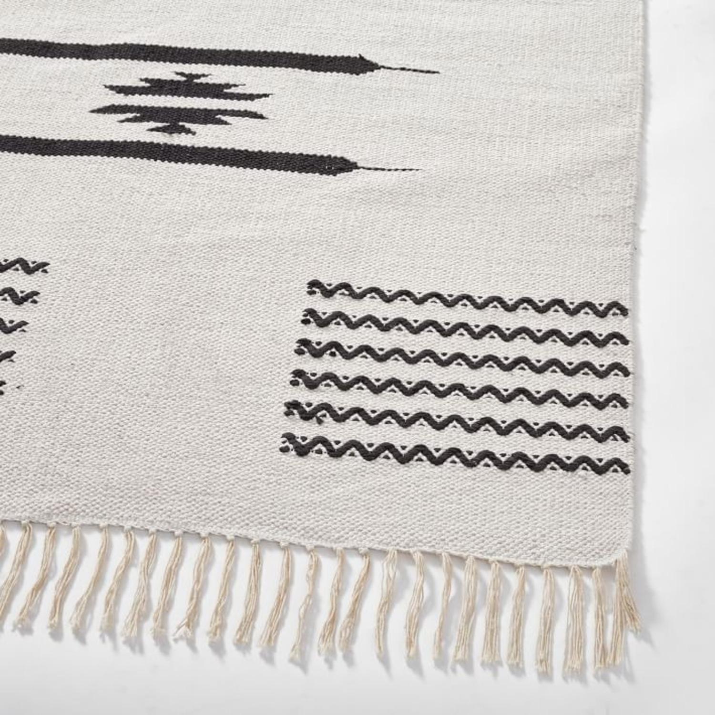 West Elm Pradera Cotton Rug, 8'x10', White - image-3