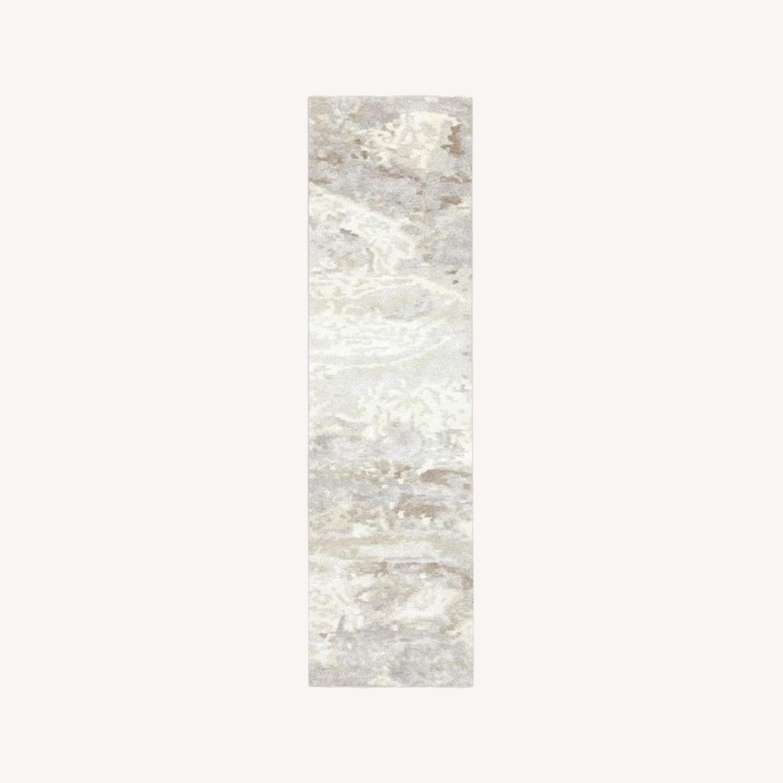 West Elm Quartz Rug, 2.5'x9', White - image-0
