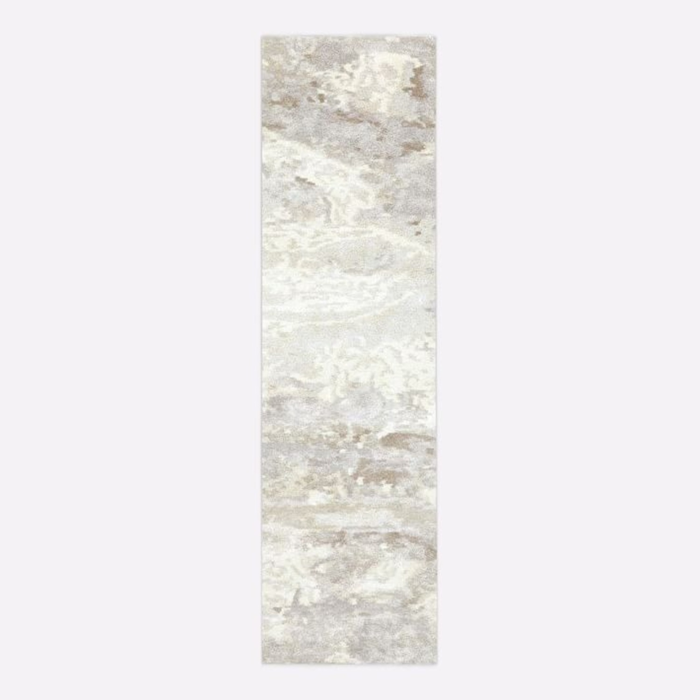 West Elm Quartz Rug, 2.5'x9', White - image-1