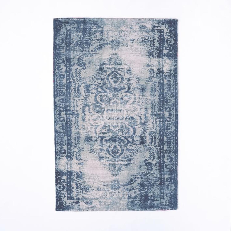 West Elm Distressed Arabesque Wool Rug, 5'x8' - image-1