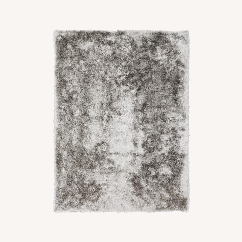 West Elm Glam Shag Rug, Platinum, 5'x8' - image-0