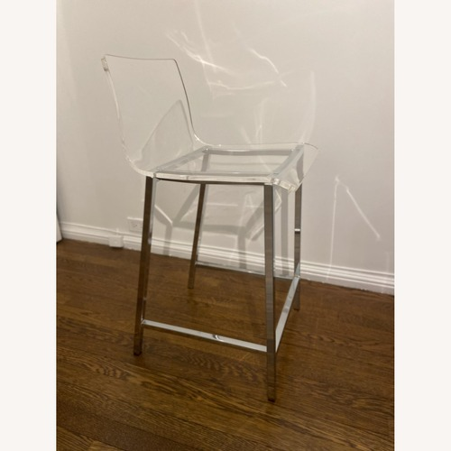 "Used CB2 Acrylic 24"" Bar Stool for sale on AptDeco"