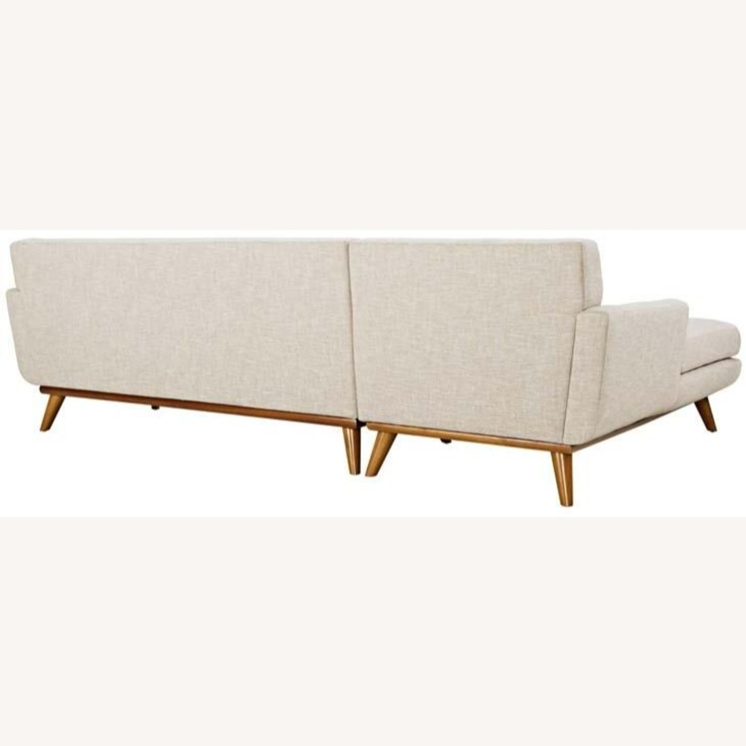 Left-Facing Sectional In Beige Upholstered Finish - image-1