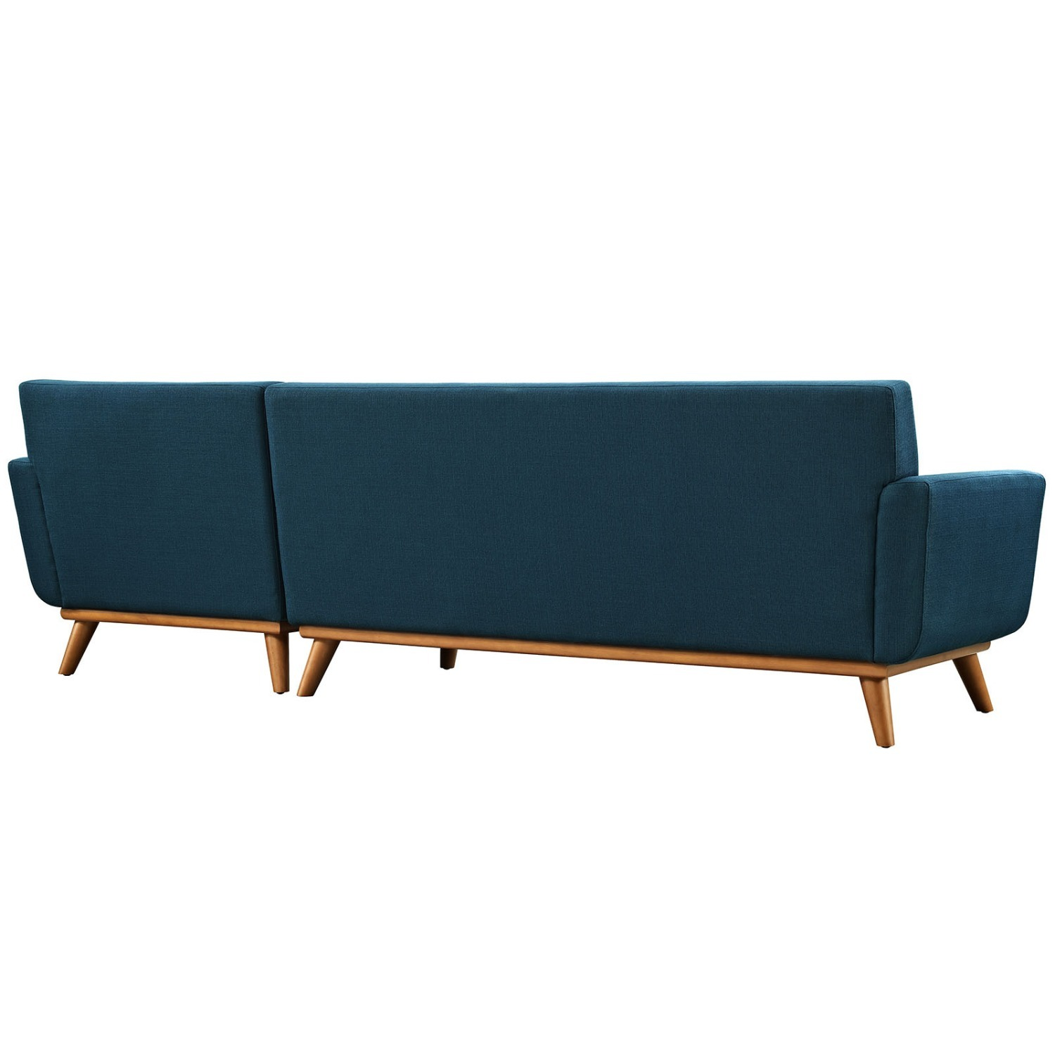 Right-Facing Sectional In Azure Upholstered Fabric - image-4
