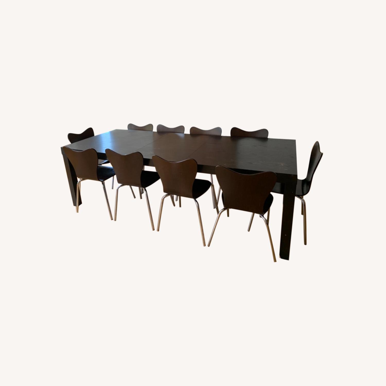 West Elm - 11 Piece Dining Set - Wood - image-0